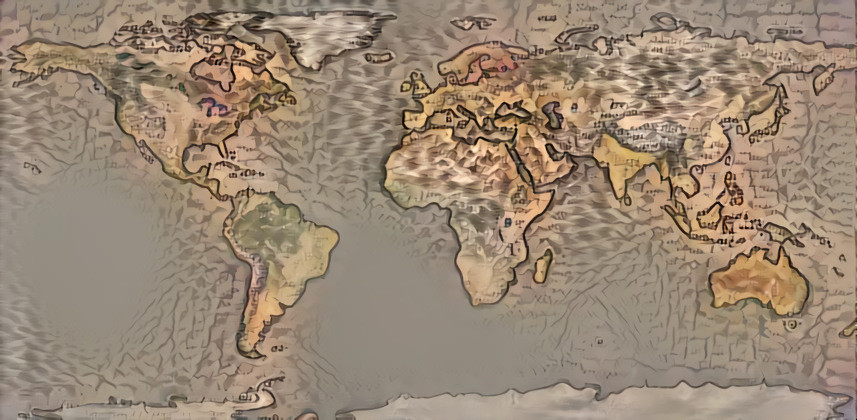 Tyler world map plus Mercators = Deepdreamgenerator re-imagining