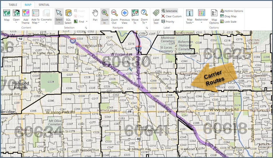 Zip Map Routes Code Carrier 23451