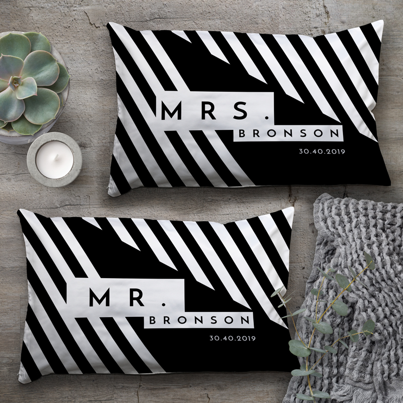 personalised mr mrs pillowcases set of 2 stuff for mums dads stuff for the home stuff for the home and mums dads wedding anniversary