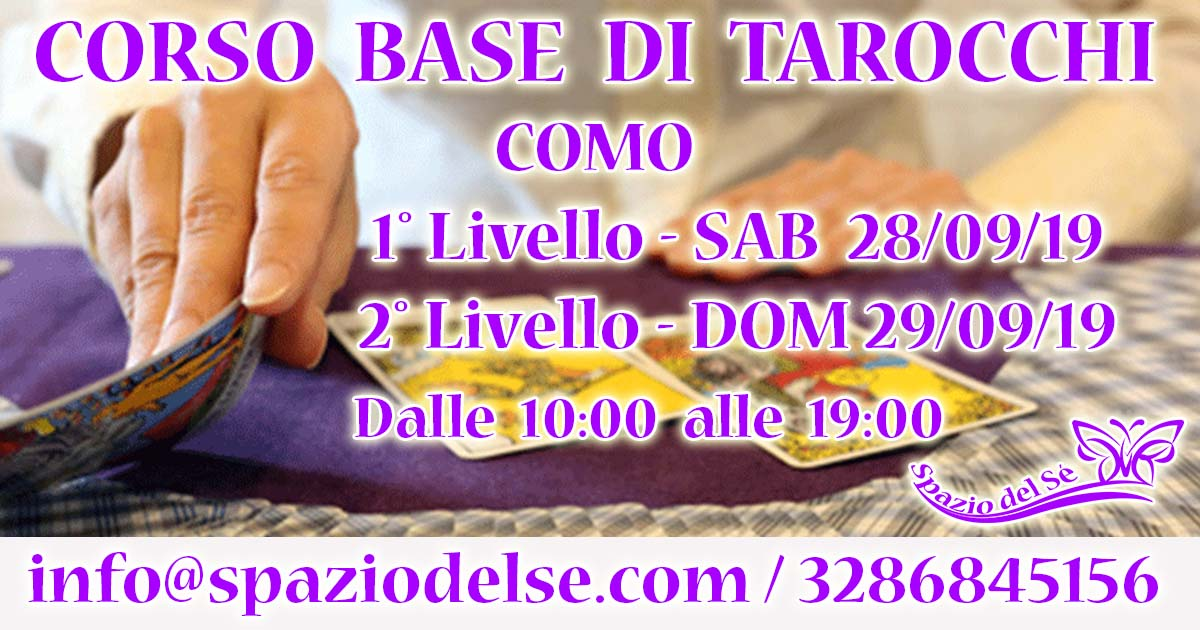 28-29/09/19 - Corso base di Tarocchi