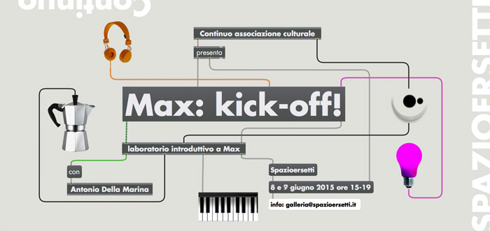 Max: kick-off workshop a Spazioersetti - flyer