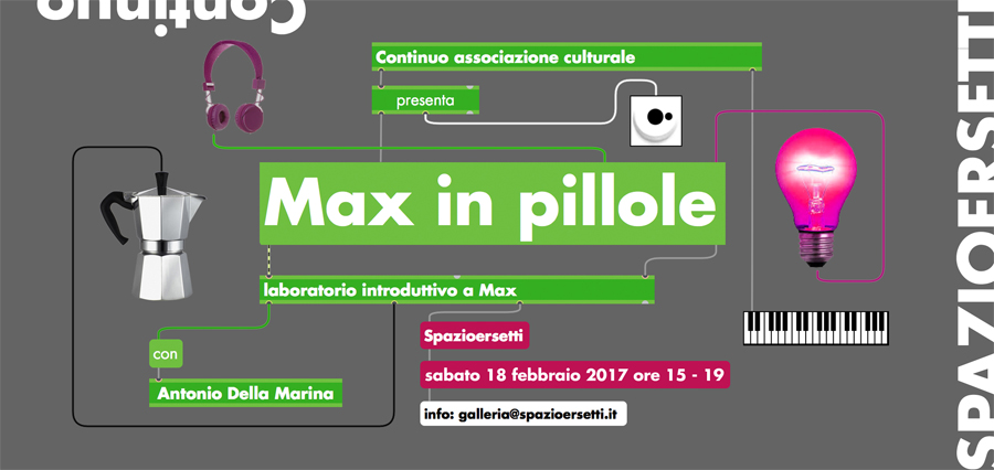 Max in pillole - workshop