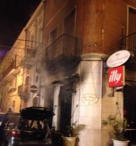Bar Smeraldo  a Cerignola incendio 18 novembre 2014