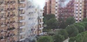 foto esplosione cabina elettrica viale michelangelo foggia