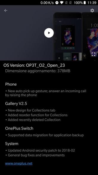 OnePlus 3 3T Open Beta 23 e 32