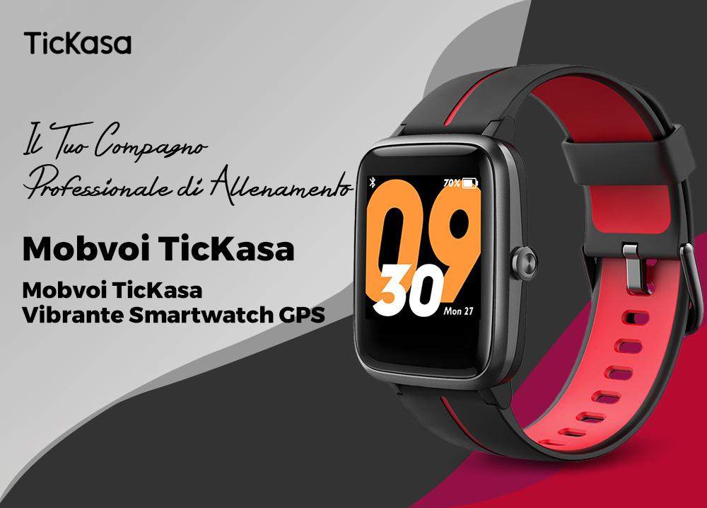 Mobvoi TicKasa: smartwatch con GPS integrato e batteria fino a 45 giorni al prezzo lancio di 43€ | Spazio Tech Italia