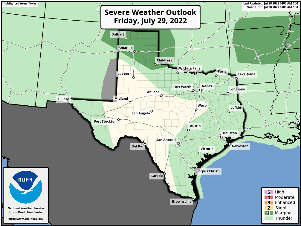 Tomorrow's Severe Weather Outlook