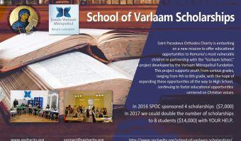 Saint Paraskeva Orthodox Charity involvment at Varlaam School, Romania