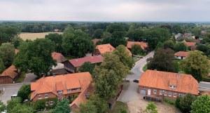 Mechtersen, Mechtersen von oben, Dorf, Altdorf, Dorfkern, Bauernhof