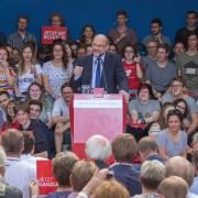 Martin Schulz bei einer Rede für die SPD in Bochum