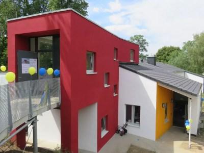 Außenansicht der umgebauten Kita Hunsebeck in Hattingen Welper