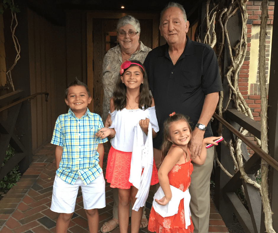 laura's kids and their grandparents