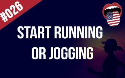 Start running or jogging