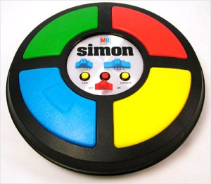 Milton Bradley's Simon Says game.