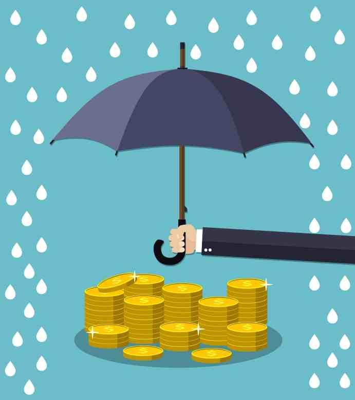 Umbrella Protecting Money