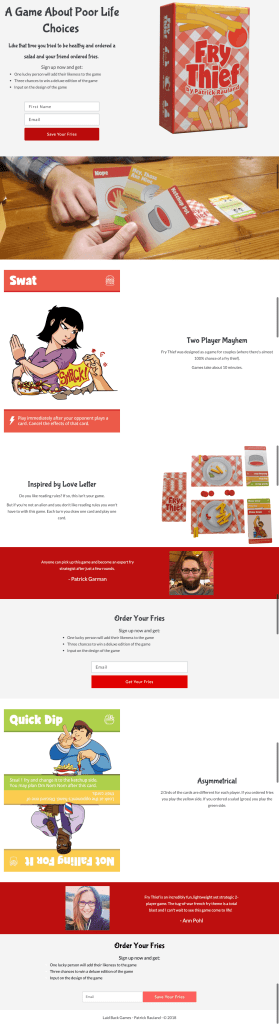 Fry Thief Landing Page