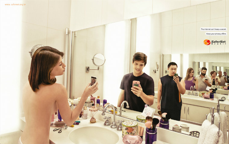 SaferNet Brasil selfie ad shows teens what happens with nude pics