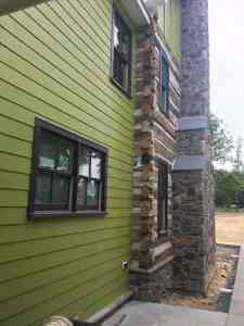 Hardi Plank Siding on Charlottesville Log Cabin