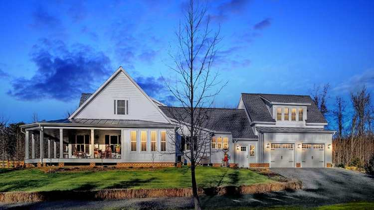 Custom built home by Spear Builders of Virginia