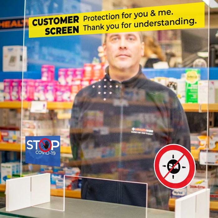 Covid Perspex Screen Protectors