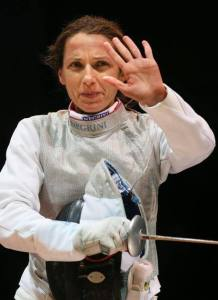 Valentina Vezzali al torneo di Torino