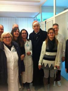 Il Cardinale Edoardo Menichelli in visita all'INRCA di Ancona
