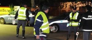 La polizia stradale presso il luogo dell'incidente