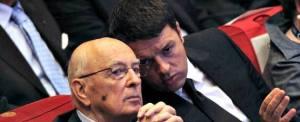 Matteo Renzi e Giorgio Napolitano (Il Fatto Quotidiano)