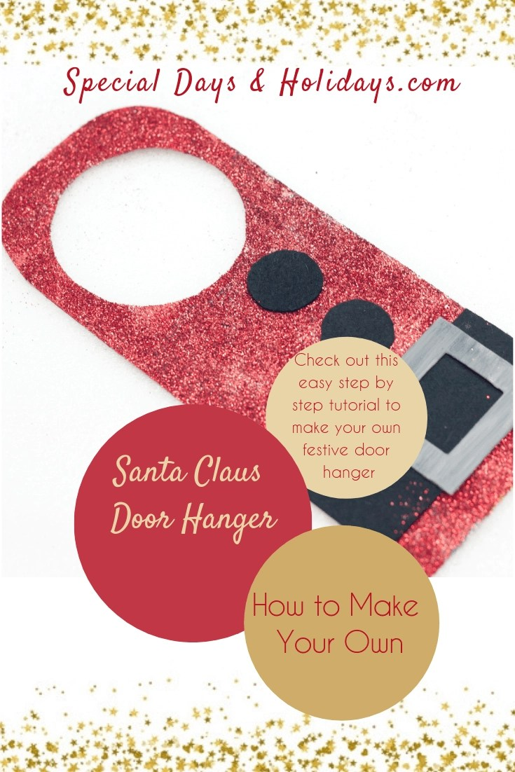 Santa Claus Door Hanger how to make your own