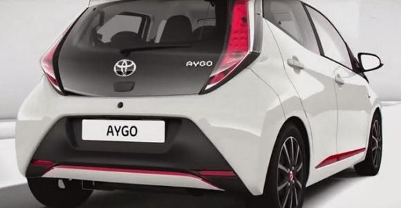 Nouvelle face arrière pour la version 2014 de la Toyota Aygo