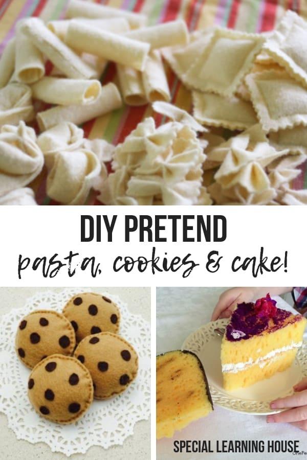 DIY Pretend pasta cookies & cake!