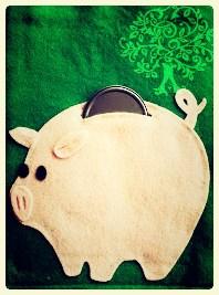 Piggy pank with frame