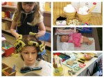 Pretend play - hair salon, doll diaper and care station, florist, gingerbread man station and ice cream parlor. Many more pretend play and DIY ideas on the blog!