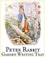 Peter Rabbit Montessori garden writing tray. Featured by Special Learning House. www.speciallearninghouse.com.