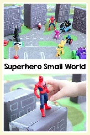 Super heroes small world play. Featured by Special Learning House. www.speciallearninghouse.com