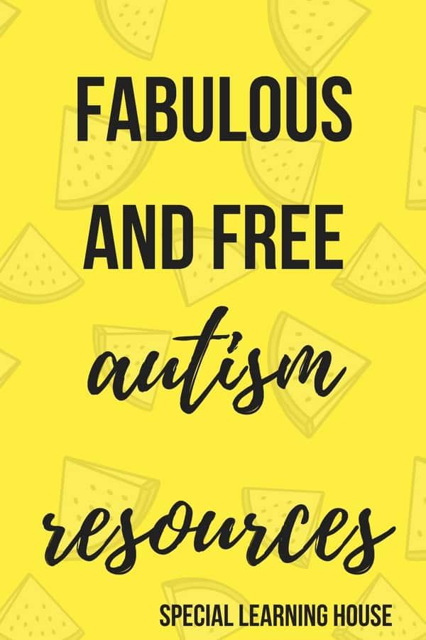 Free Autism Resources #autism #freeautismresources #spd #adhd