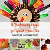6 Easy Thanksgiving crafts for kids with autism