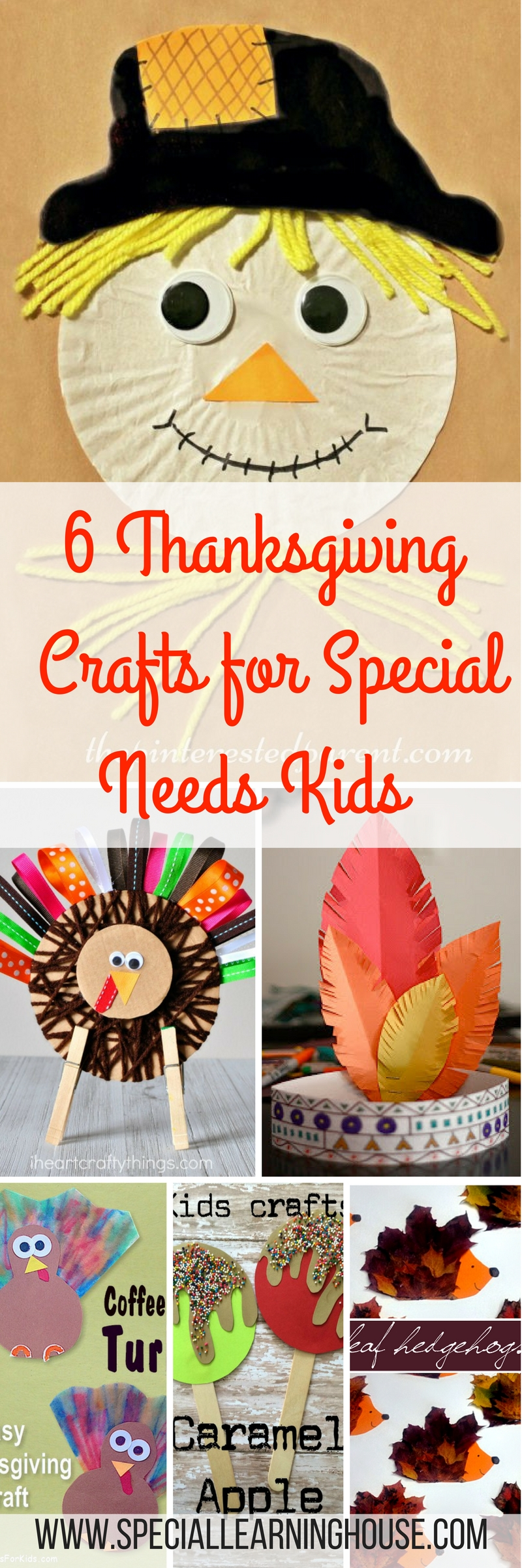 6 Thanksgiving Kids Crafts. Special Learning House. www.speciallearninghouse.com.