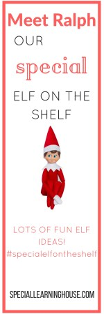 Special Elf on the Shelf. Special Learning House. www.speciallearninghouse.com.