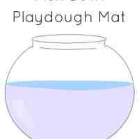 Fish bowl playdough mat (free printable)