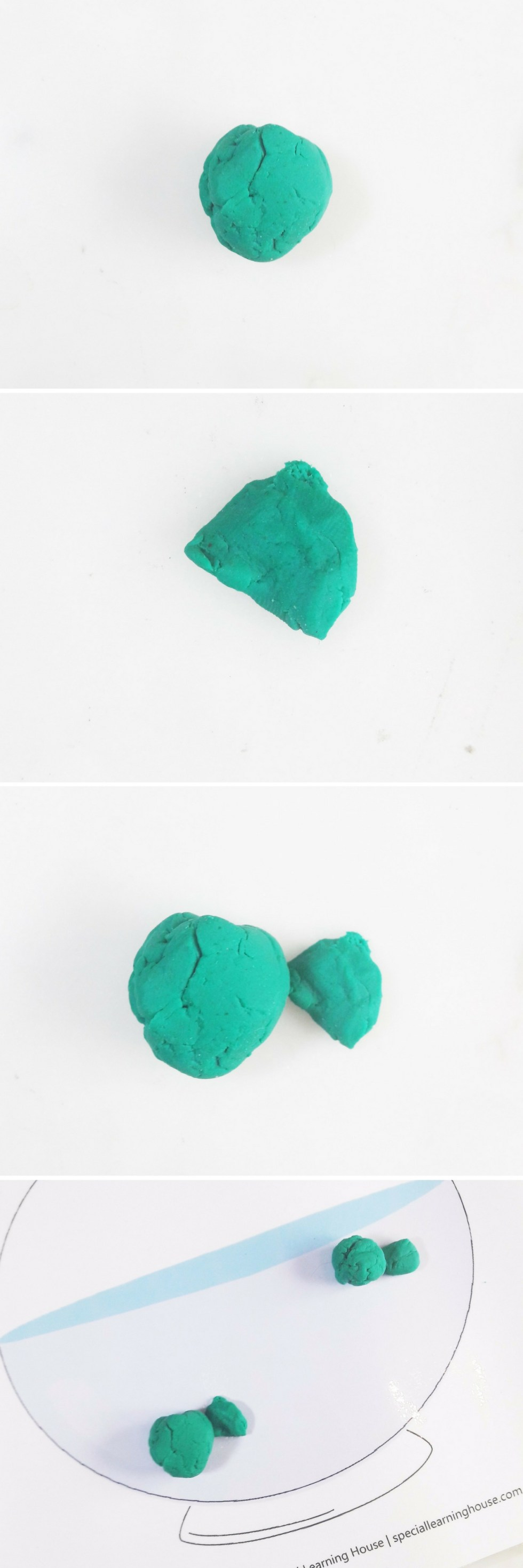Free Printable Fish Bowl Playdough Mat.   speciallearninghouse.com