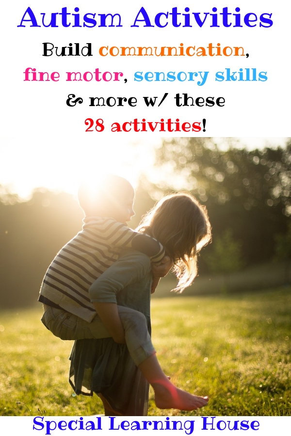 Autism Activities - build communication, fine motor, sensory skills & more!