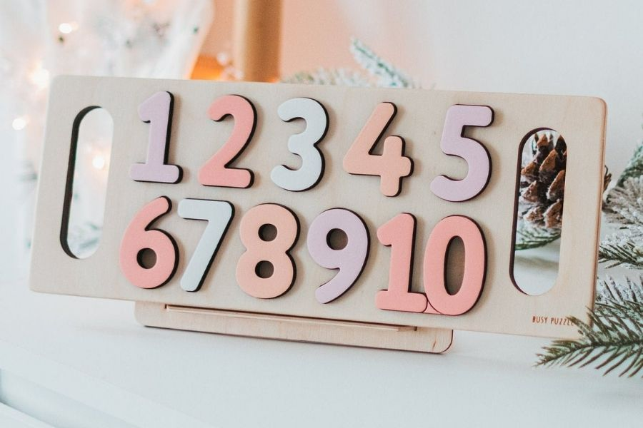 Puzzles for Autism - Wooden Numbers Puzzle