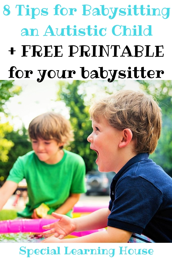 8 Tips for Babysitting an Autistic Child + FREE PRINTABLE