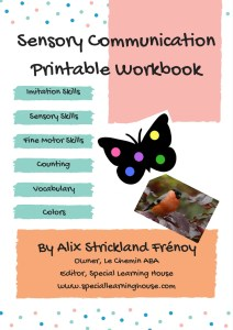 Sensory Communication Printable Workbook Cover