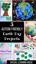 5 Autism-Friendly Earth Day Projects Cover Image #autism #autismawareness #speciallearninghouse #earthday #finemotor