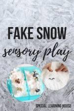 Fake snow sensory play #autism #spd #adhd #sensoryplay