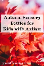 Autumn Sensory Bottles for Kids with Autism