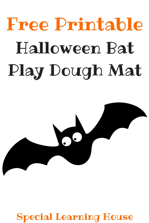 picture about Bat Printable identified as Bat Playdough Mat (Totally free Printable) - Unique Discovering Residence