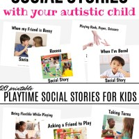 20 reasons to use printable social stories to teach children with autism social skills